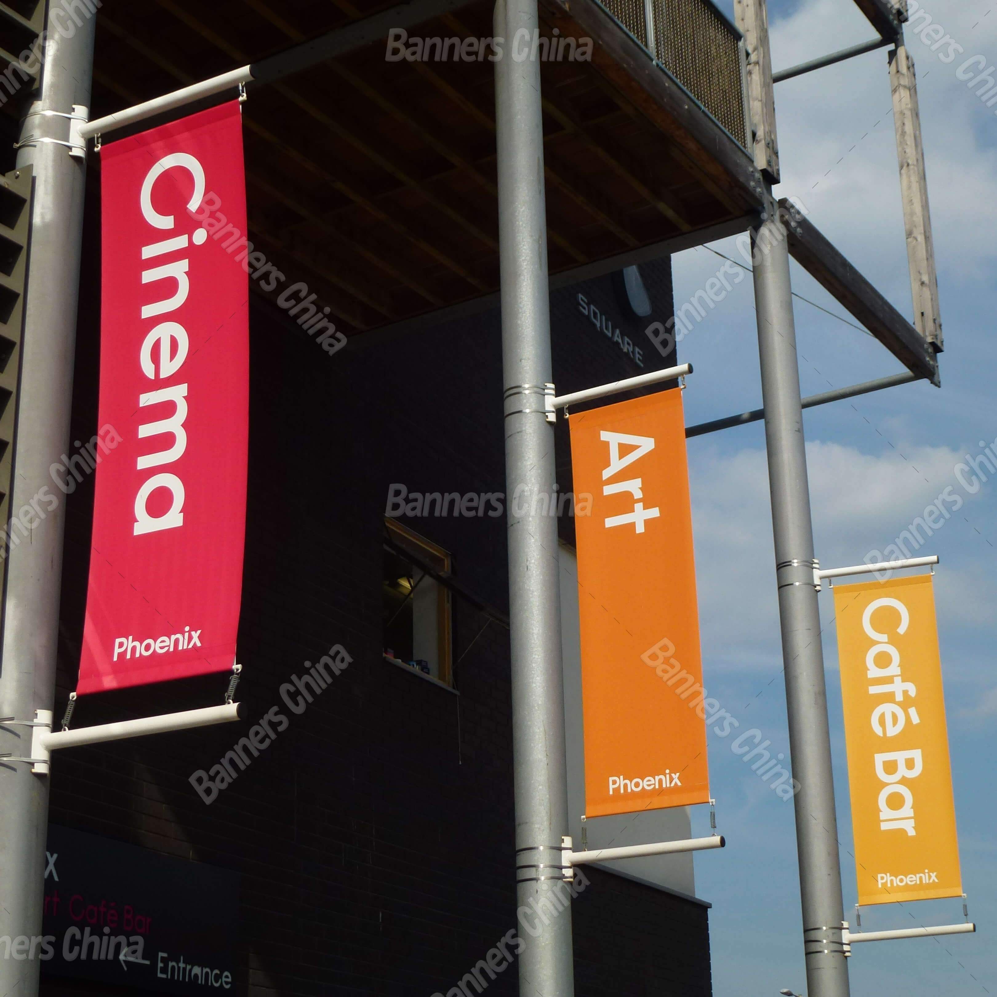 Outdoor Vertical Street Banner Flags From China Manufacturer Banners