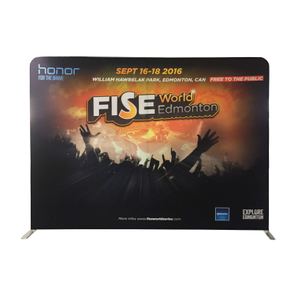8ft Straight Tension Fabric Trade Show Displays